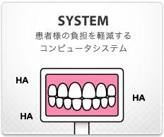 SYSTEM:患者様の負担を軽減する コンピュータシステム